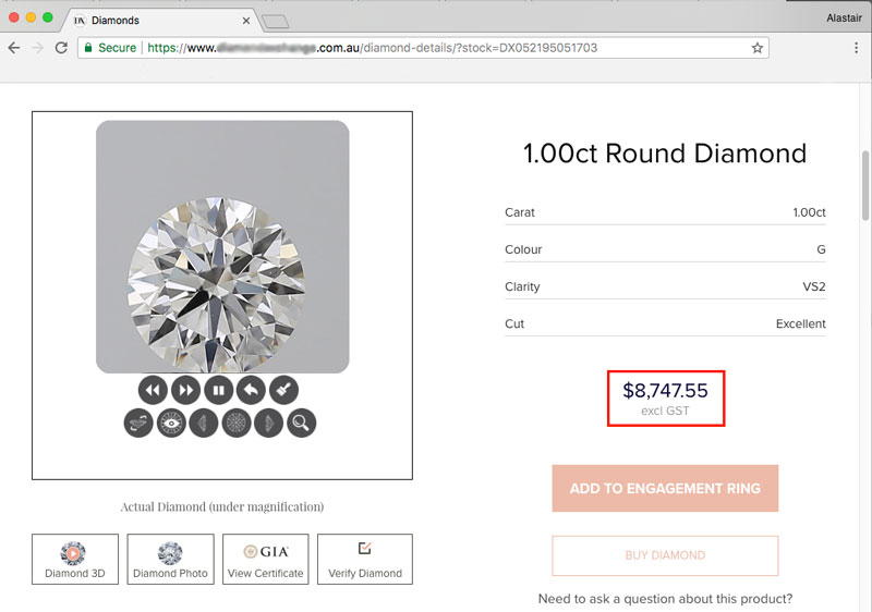 aus retailer no GST 2 - Importing a diamond or engagement ring into Australia