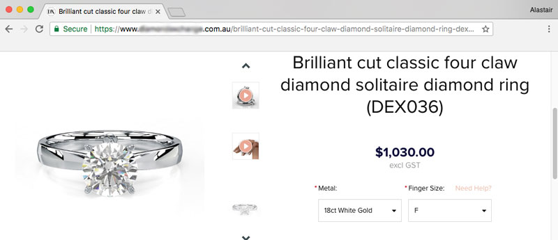 australian jeweler solitaire setting - Importing a diamond or engagement ring into Australia