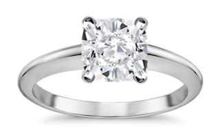 cushion cut diamond ring - Square Engagement Rings