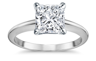 princess cut square diamond engagement ring - Square Engagement Rings