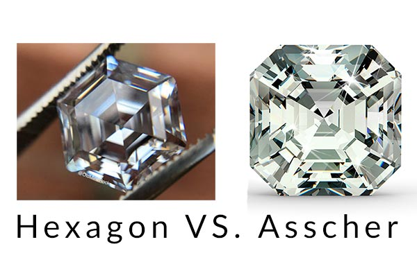 12 Shanina Shaiks engagement ring hexagon cut vs asscher cut - Shanina Shaik's Engagement Ring