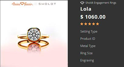 16 Shanina Shaiks engagement ring bezel setting copy 2 - Shanina Shaik's Engagement Ring