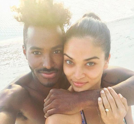 3 Shanina Shaiks engagement ring instagram announcement - Shanina Shaik's Engagement Ring