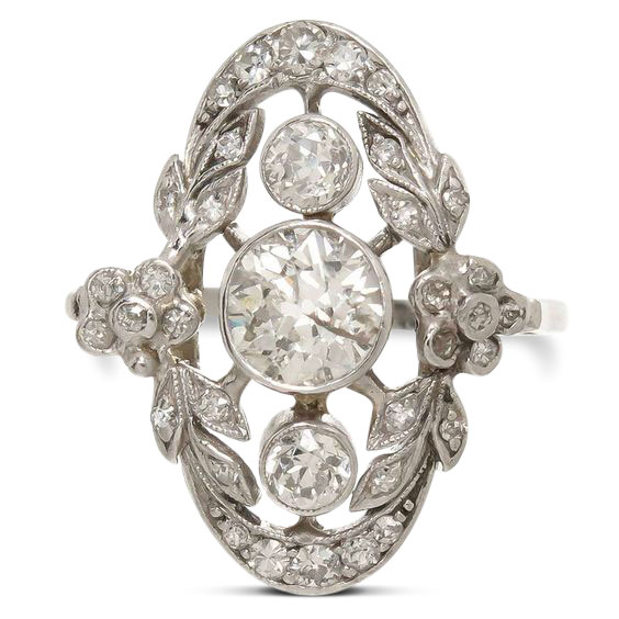 Edwardian diamond ring 10 - Edwardian engagement rings