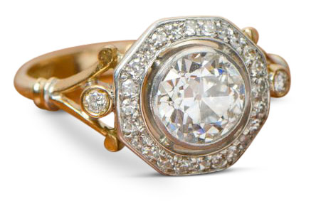 Edwardian diamond ring 14 - Edwardian engagement rings