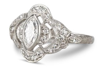 Edwardian diamond ring 16 - Edwardian engagement rings