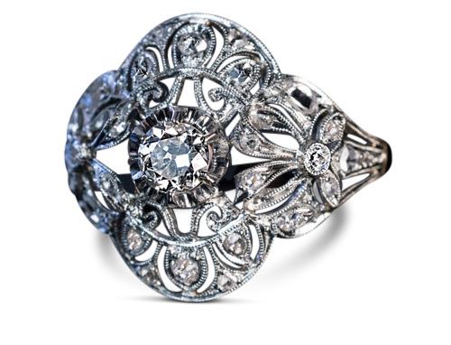 Edwardian diamond ring 2 - Edwardian engagement rings