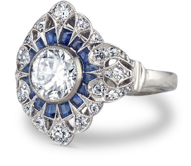 Edwardian diamond ring 22 - Edwardian engagement rings