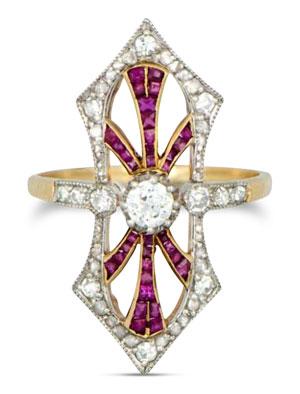 Edwardian diamond ring 23 - Edwardian engagement rings