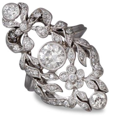 Edwardian diamond ring 4 - Edwardian engagement rings