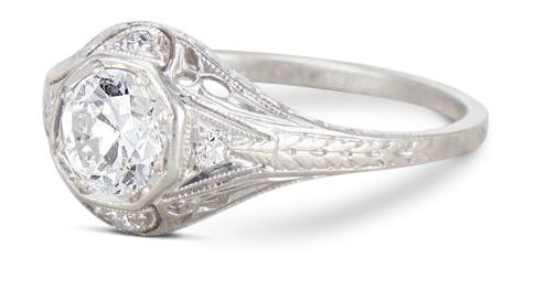 Edwardian diamond ring 5 - Edwardian engagement rings