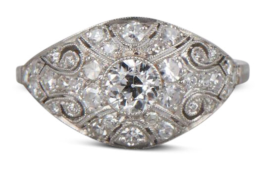 Edwardian diamond ring 7 - Edwardian engagement rings