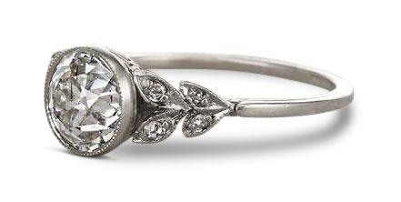 Edwardian diamond ring 8 - Edwardian engagement rings