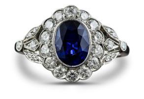 Edwardian sapphire ring 24 - Edwardian engagement rings