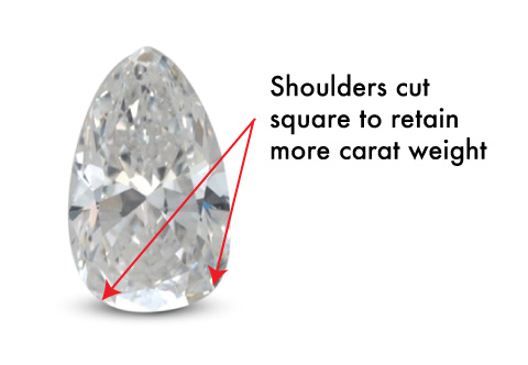 pear shape diamond square shoulders - Pear shaped engagement rings