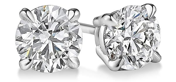 Diamond Stud Earrings Initial Example