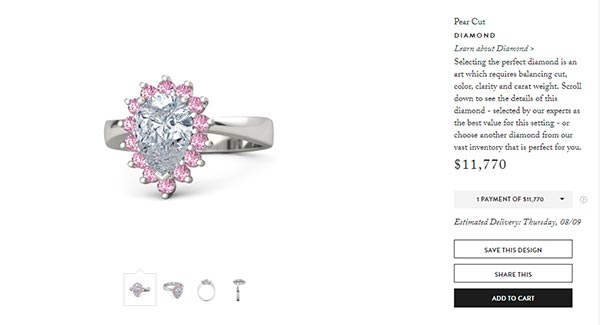 Cardi Bs Pear Cut Diamond Engagement Ring