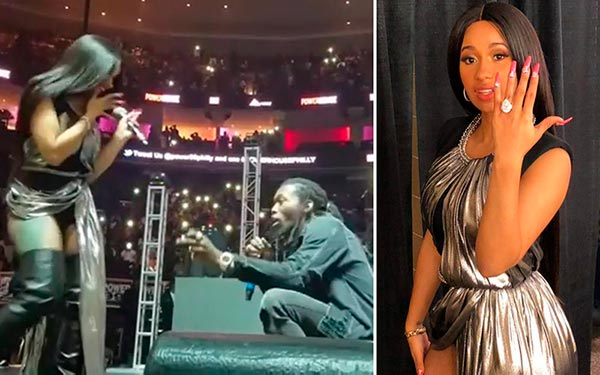 2 Cardi Bs Engagement Ring Proposal - Cardi B's Engagement Ring