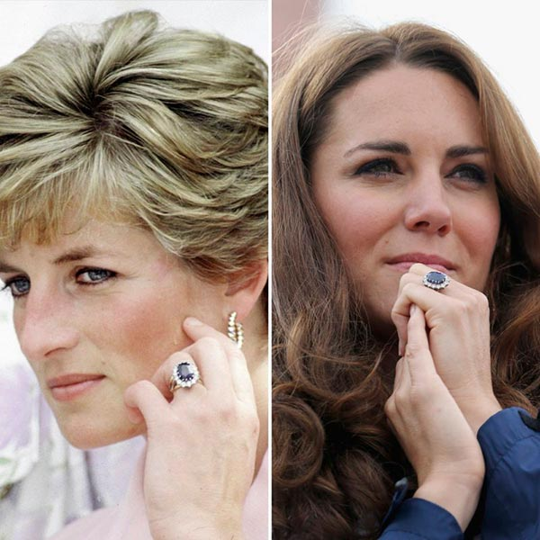 4 Kate Middletons Engagement Ring Kate Middleton and Princess Diana - Kate Middleton's Engagement Ring