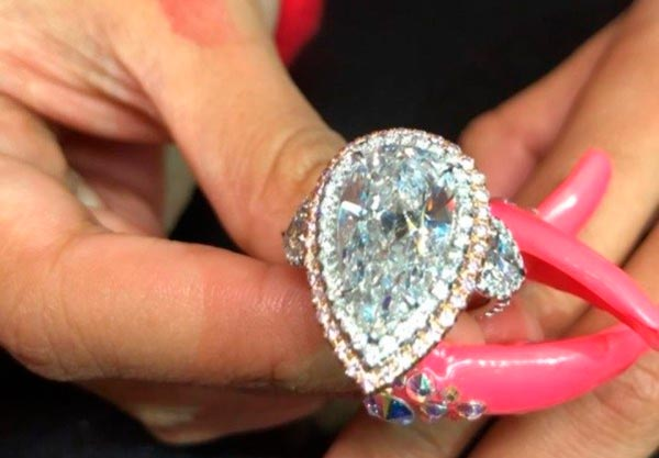 5 Cardi Bs Engagement Ring Double Halo Setting - Cardi B's Engagement Ring