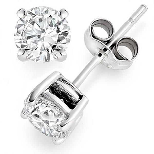Diamond Stud Earrings Friction Back