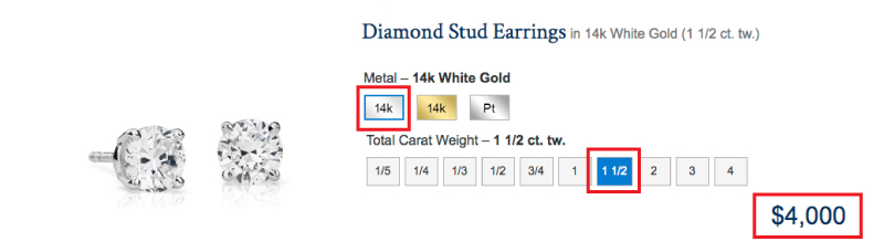 diamond stud earrings budget