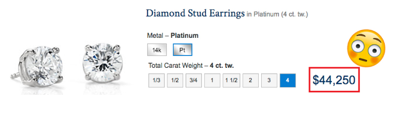 diamond stud earrings k