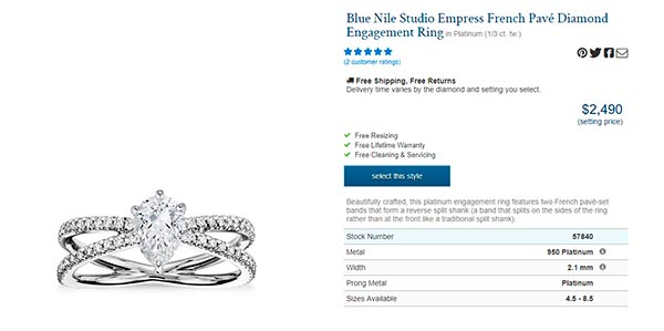 Sophie Turners Engagement Ring Blue Nile