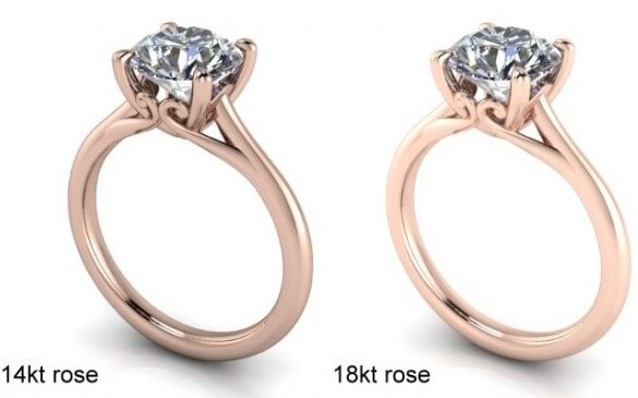 K rose gold vs K rose gold