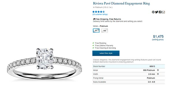 Meghan trainors Engagement Ring Blue Nile Copy