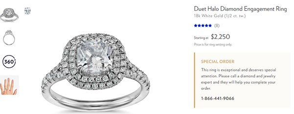 Jessica Biels Engagement Ring Blue Nile Copy