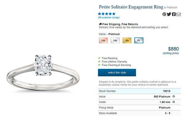 Priyanka Chopras Engagement Ring Blue Nile Copy