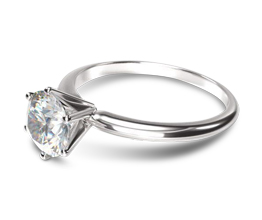 4M Classic Six Prong Solitaire Diamond Engagement Ring - Round Engagement Rings