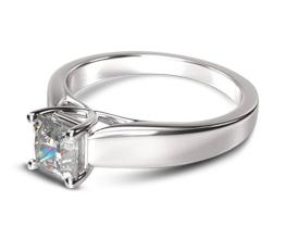 4M Trellis Princess Solitaire Diamond Engagement Ring - Princess cut engagement rings