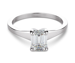 Widening Solitaire Engagement Ring