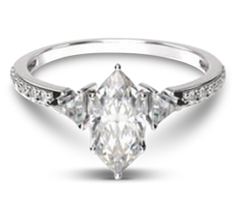 Triangular Three Stone Diamond Engagement Ring