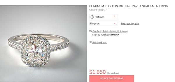 8 Meghan Trainors Engagement Ring James Allen Copy - Meghan Trainor's engagement ring