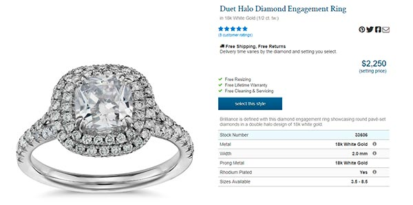 9 Meghan Trainors Engagement Ring Blue Nile Copy - Meghan Trainor's engagement ring