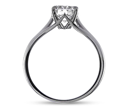 BG Simone four prong solitaire engagement ring - Round Engagement Rings