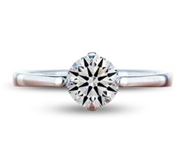 BG abby east west solitaire engagement ring - Palladium engagement rings