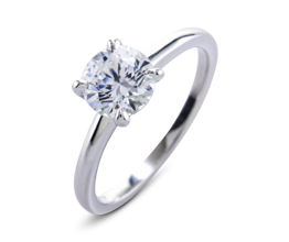 BG palladium solitaire - Solitaire engagement rings