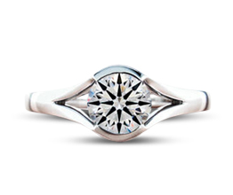 BG split solitaire palladium engagement ring - Solitaire engagement rings
