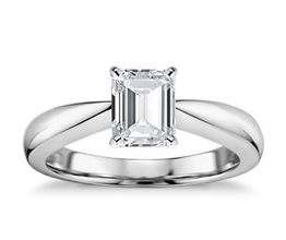 Classic Tapered Four Prong Engagement Ring