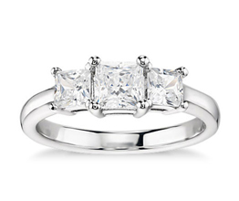Classic Three-Stone Diamond Engagement Ring