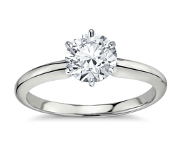 BN Classic six prong diamond engagement ring - Round Engagement Rings