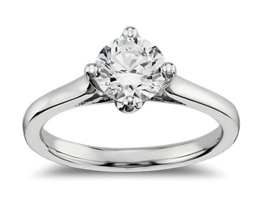 BN East West Solitaire Engagement Ring - Round Engagement Rings