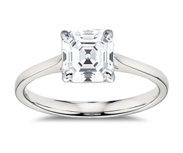 BN Petite Cathedral Solitaire Engagement Ring 1 - Asscher cut engagement rings