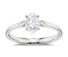 BN Petite Cathedral Solitaire Engagement Ring 3 - Oval Engagement Rings