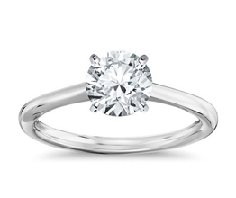 BN Petite Solitaire Engagement Ring 3 - Round Engagement Rings