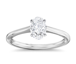 BN Petite Solitaire Engagement Ring - Oval Engagement Rings